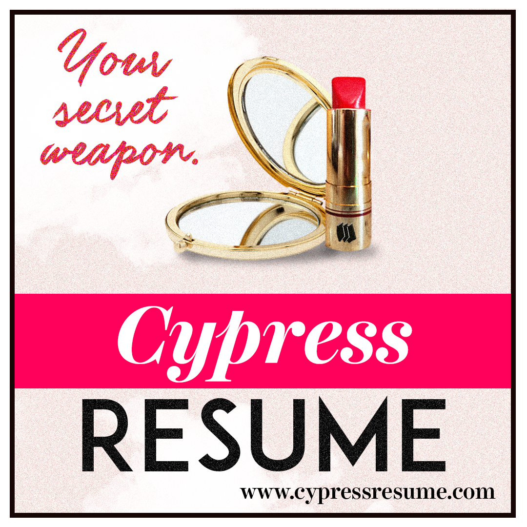 resume Cypress Resume account administration cypressresume com bookmarks banners posters flyers social media images